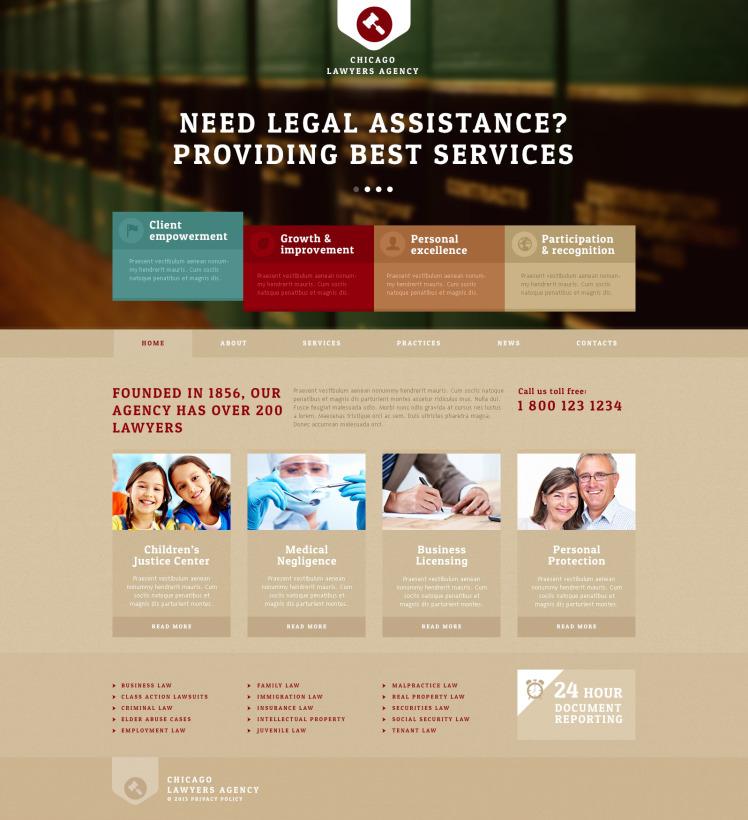 Lawyers Agency Joomla Templates