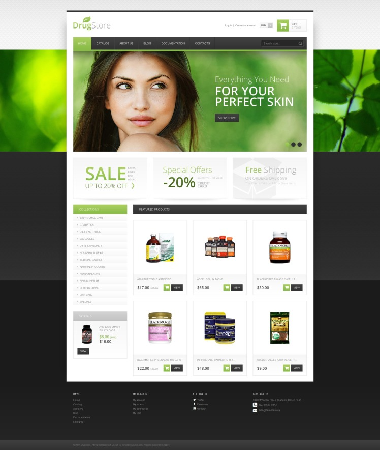 Drug Store Responsive Shopify Theme