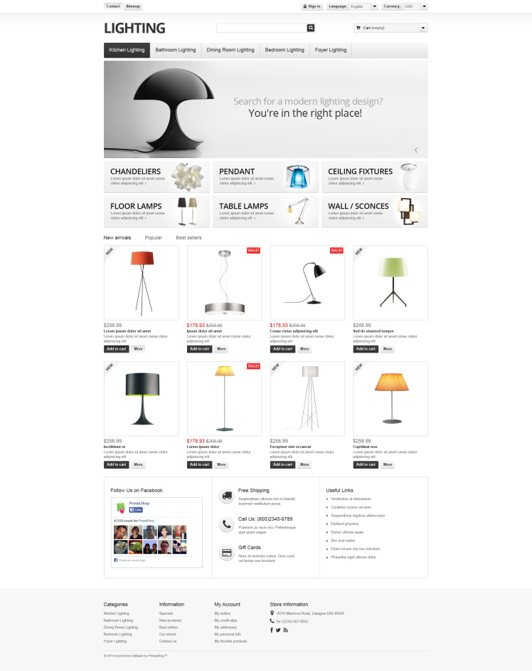 Lighting Interior PrestaShop Themes
