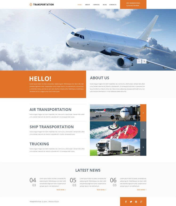 Freight Shipping Group Joomla Templates
