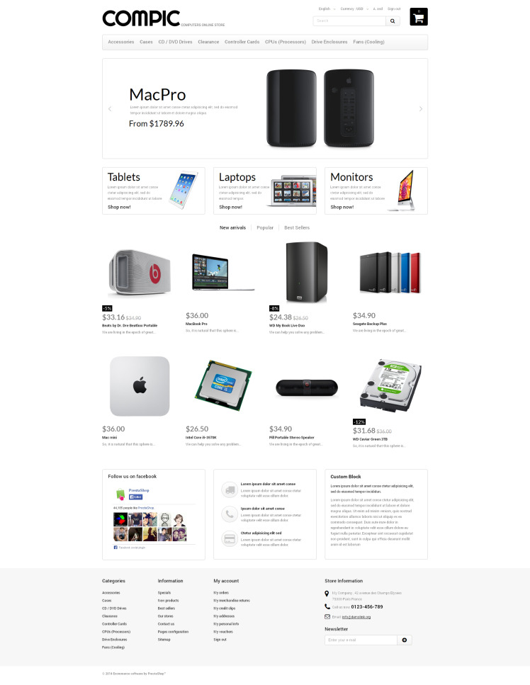HighEnd Hardware PrestaShop Themes