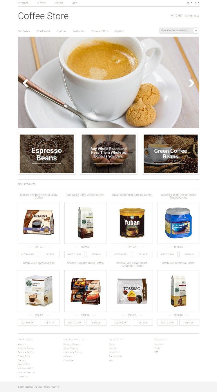 Coffee Aroma Magento Themes