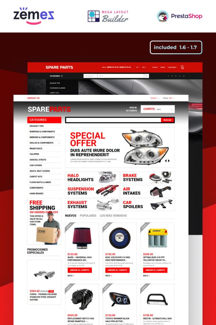 Motor Spares PrestaShop Themes