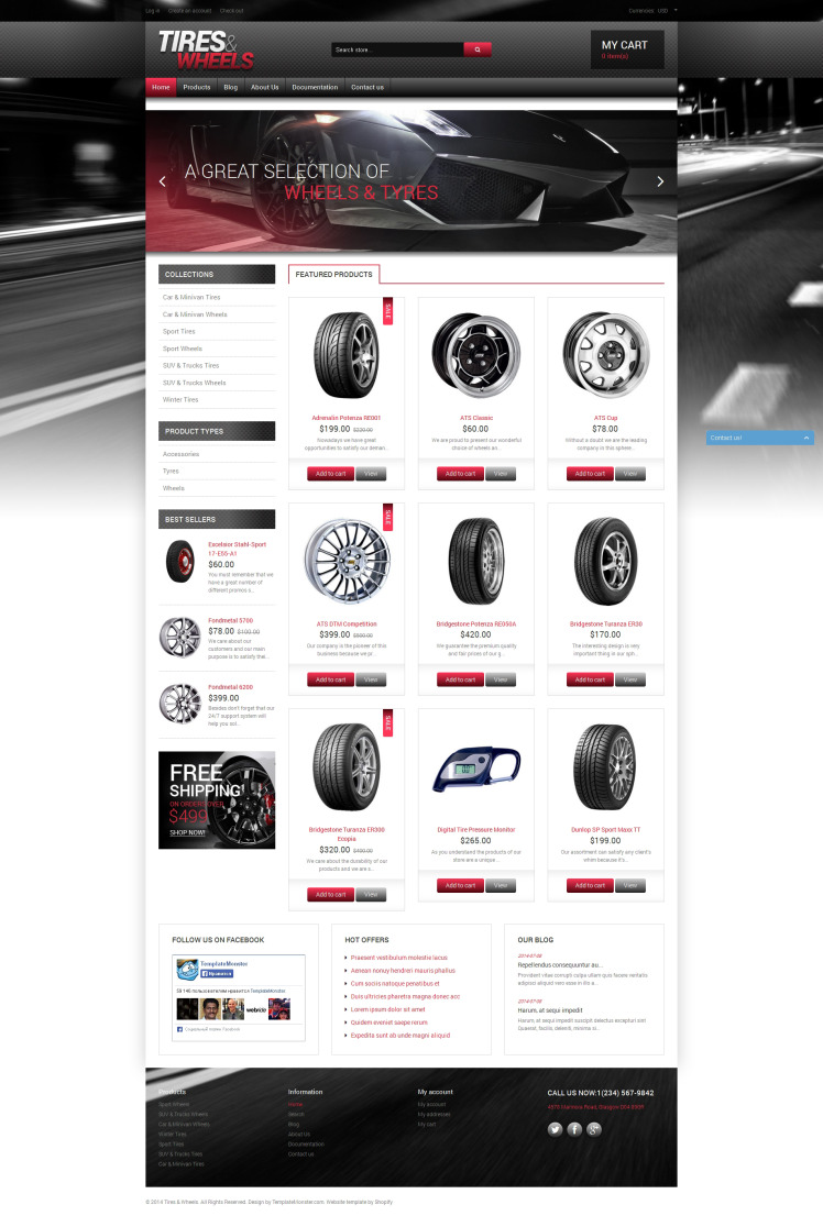 Quality Wheels and Tires Shopify Themes