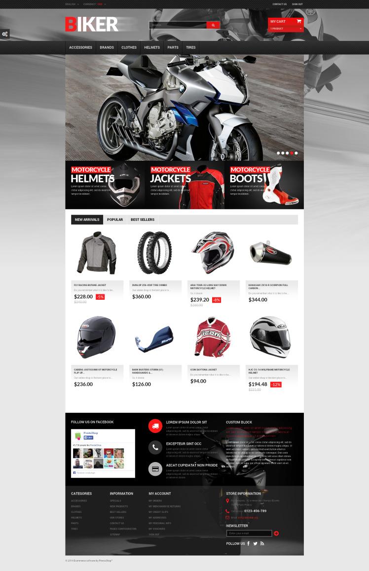 Biker PrestaShop Themes