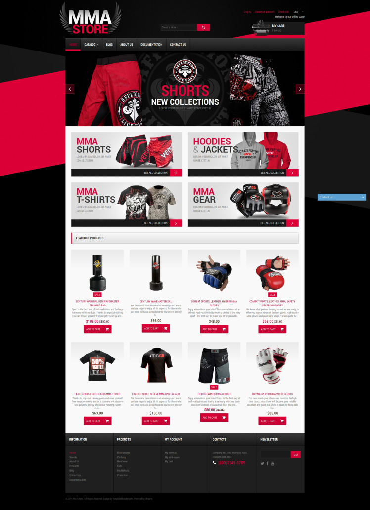 MMA Items Shopify Themes