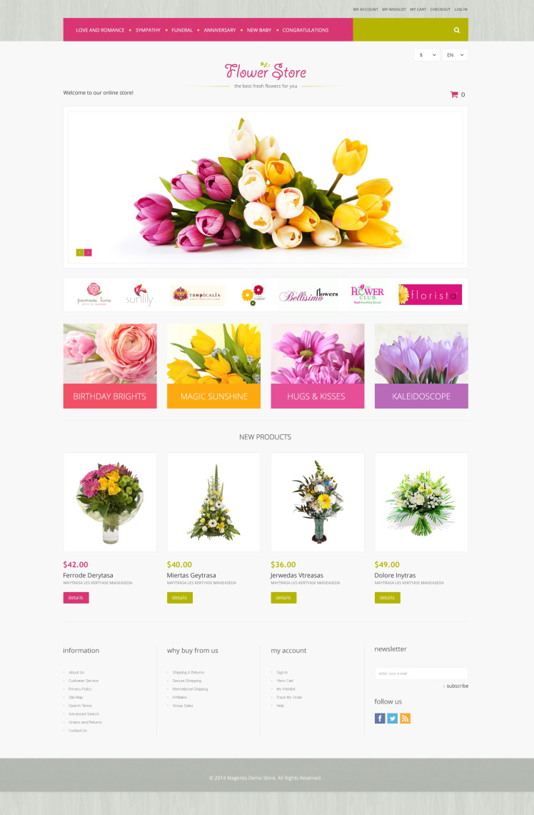 Florists Offerings Magento Themes
