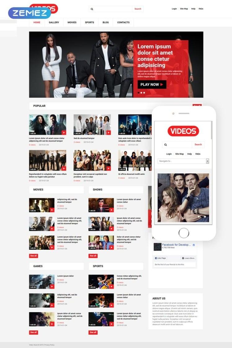 Video Stock Joomla Templates