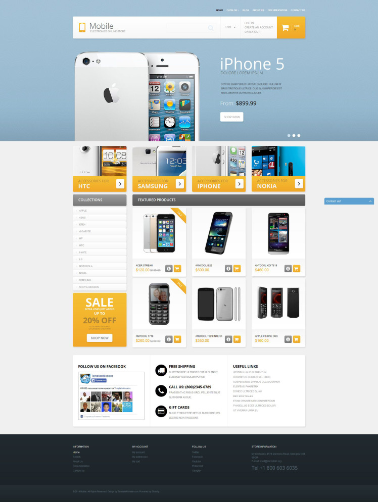 Mobile Phones Shopify Themes