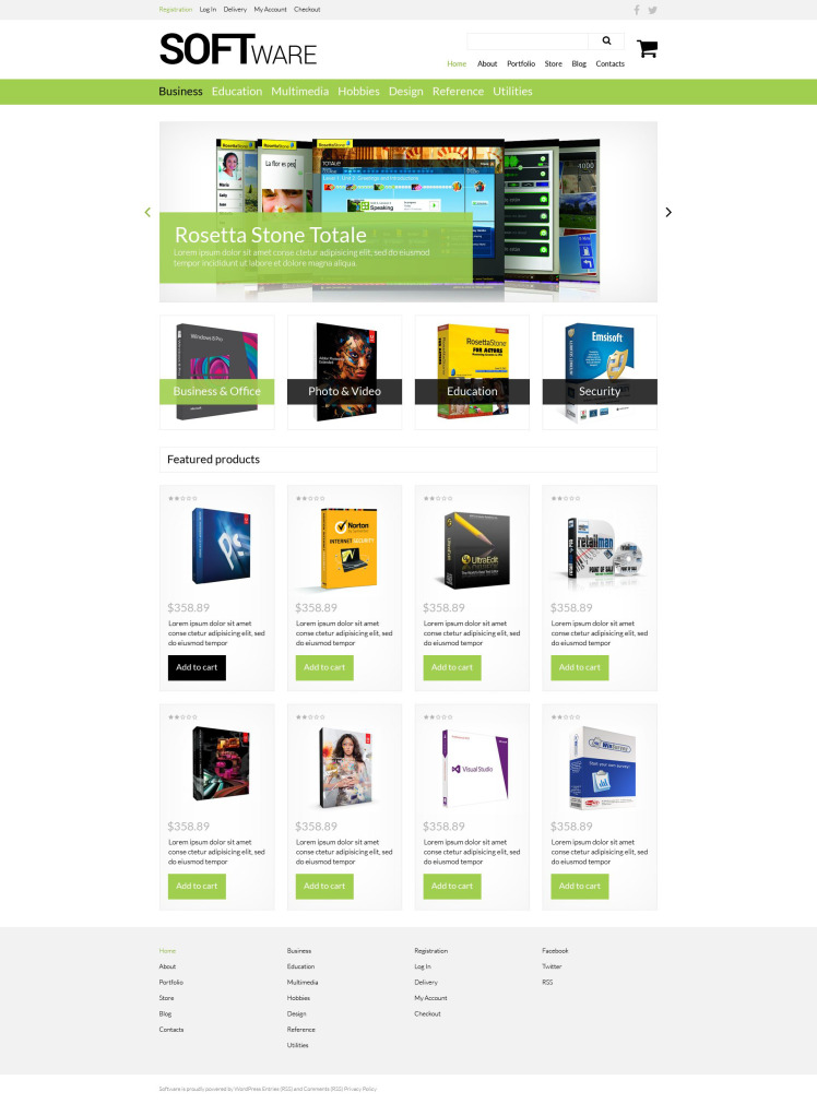 Software Store WooCommerce Themes