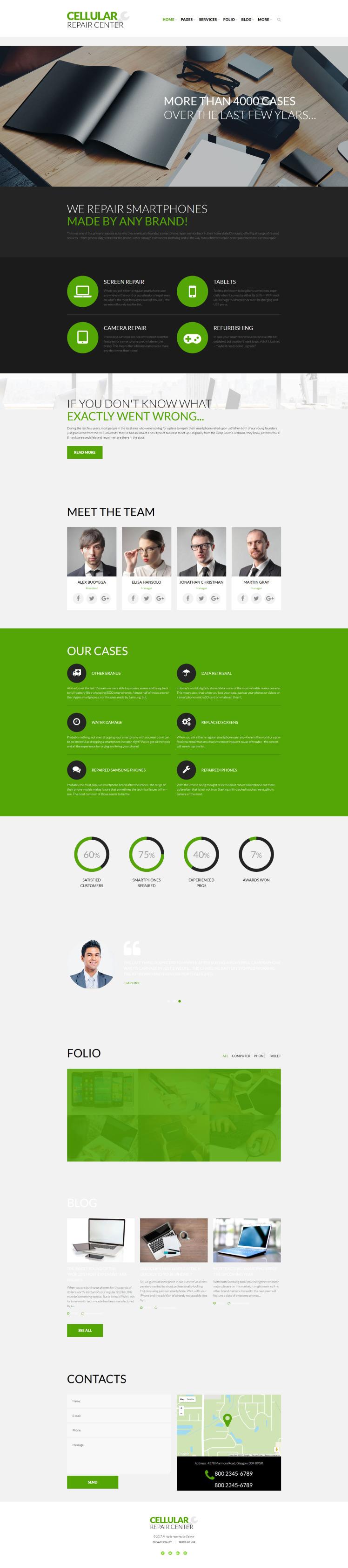 Cellular Repair Center WordPress Themes