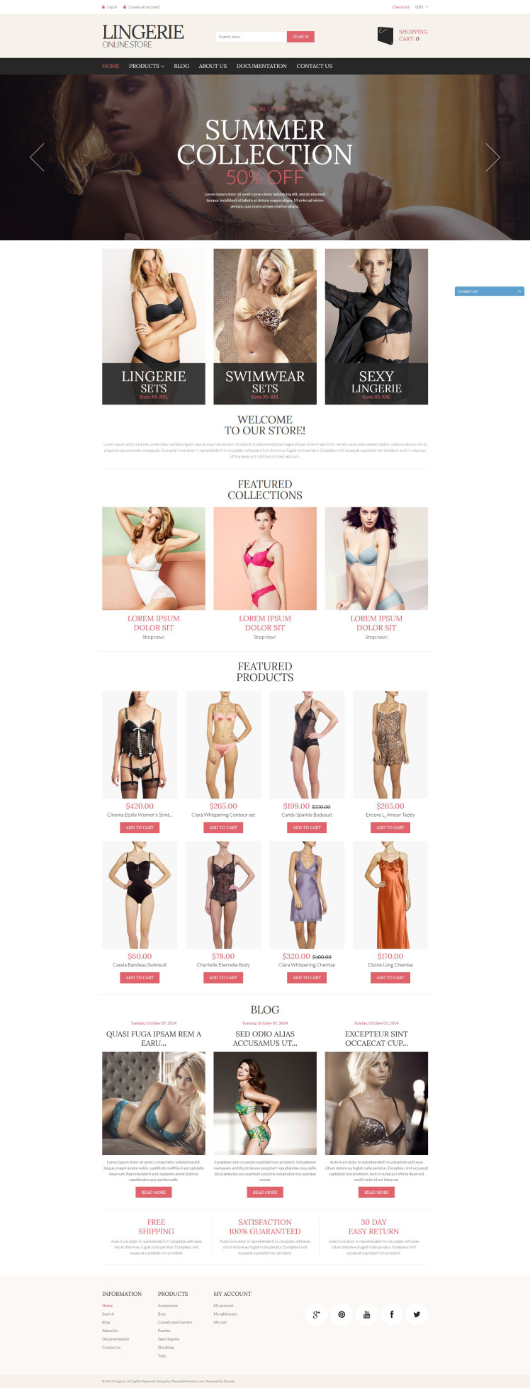 Lingerie Store Shopify Themes
