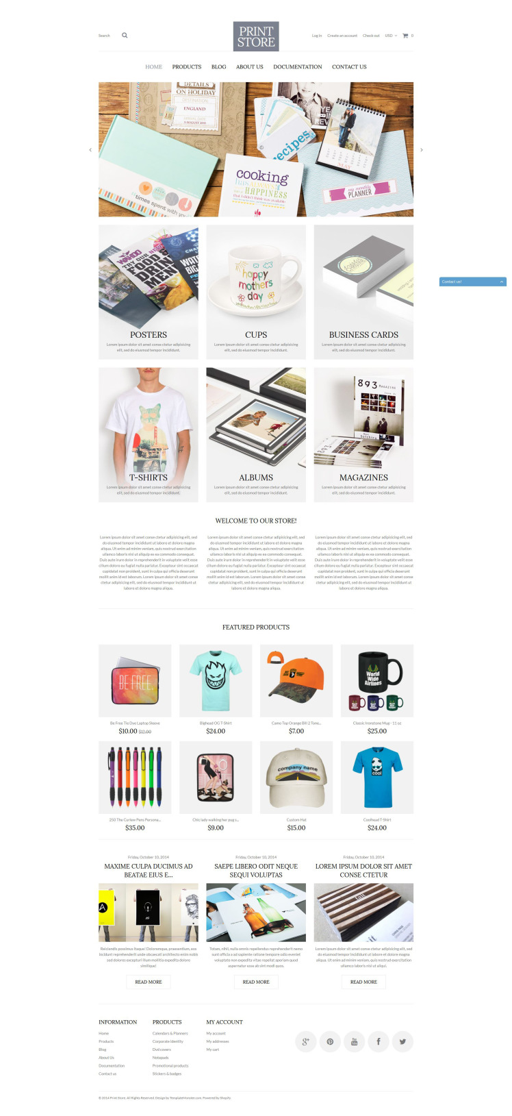 Modern Print Solutions Shopify Themes