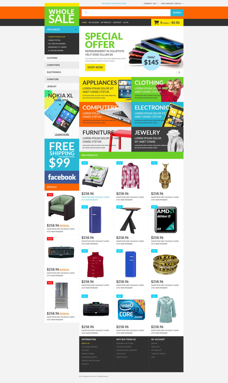 Wholesale Store Magento Themes