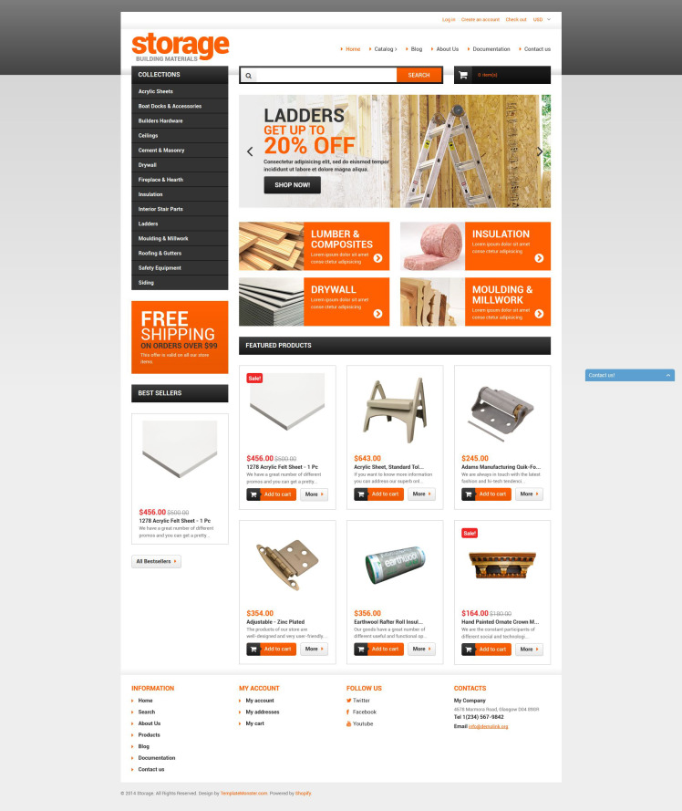 Building Materials Shopify Themes