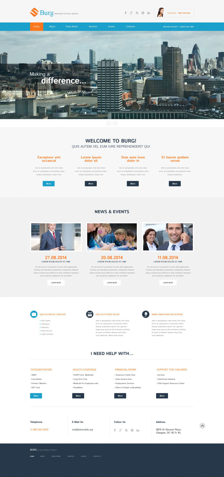 Business Services Responsive WordPress Theme
