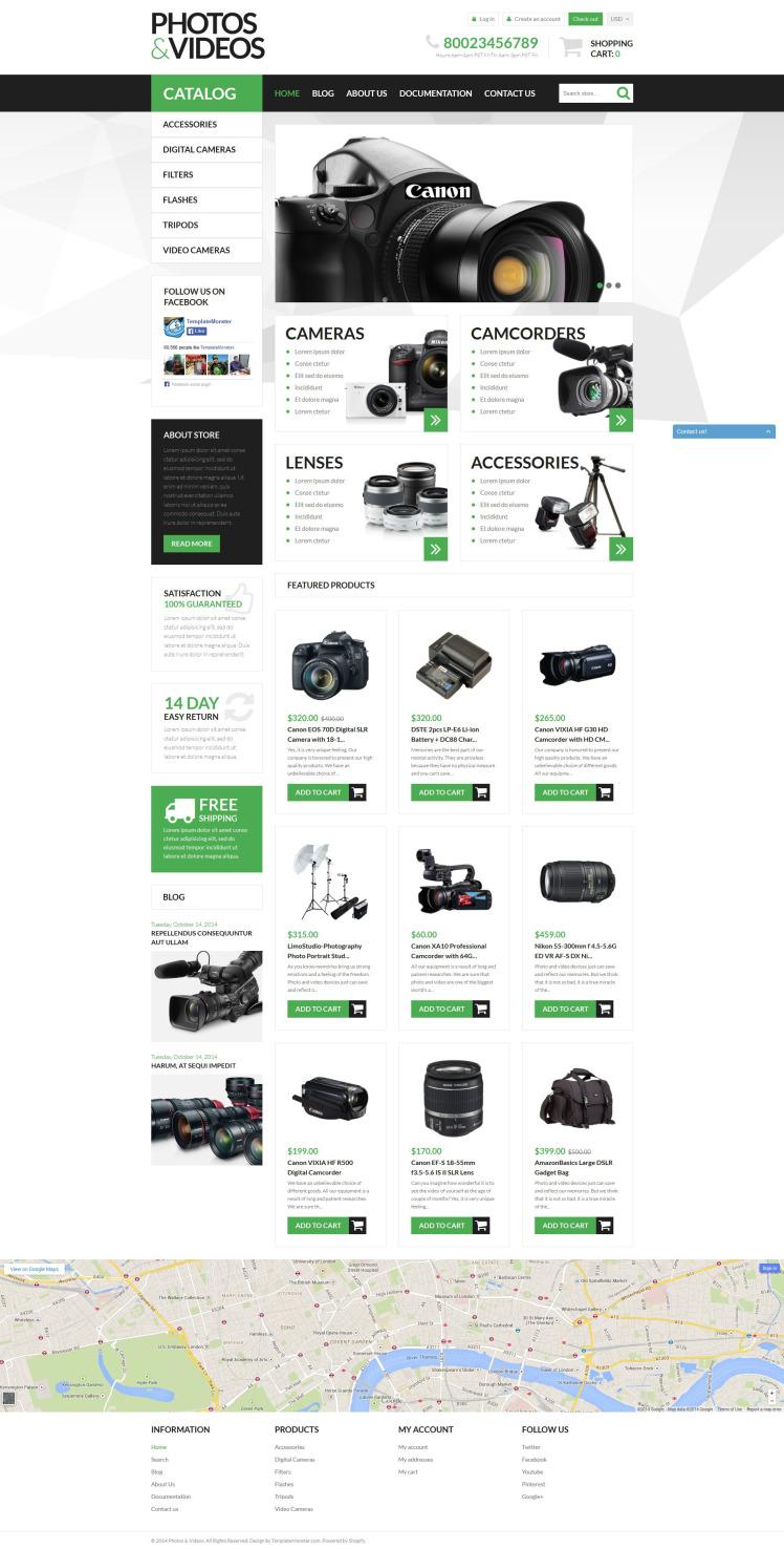 Photo Video Technologies Shopify Themes