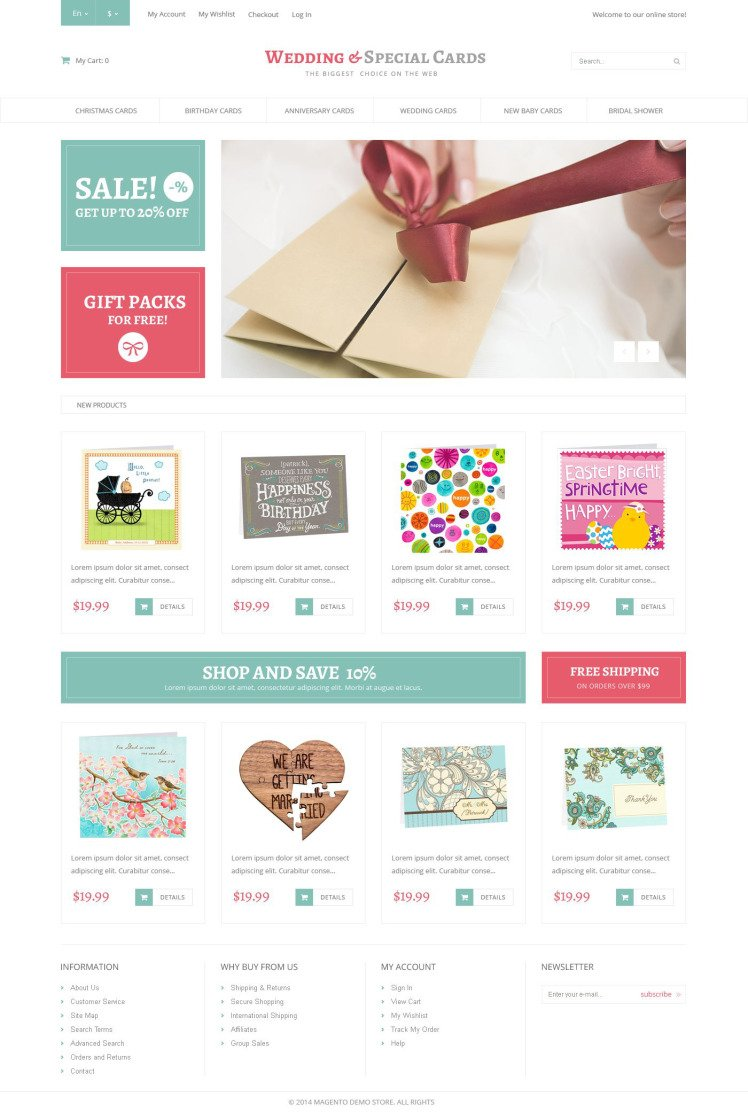 Special Day Cards Magento Themes