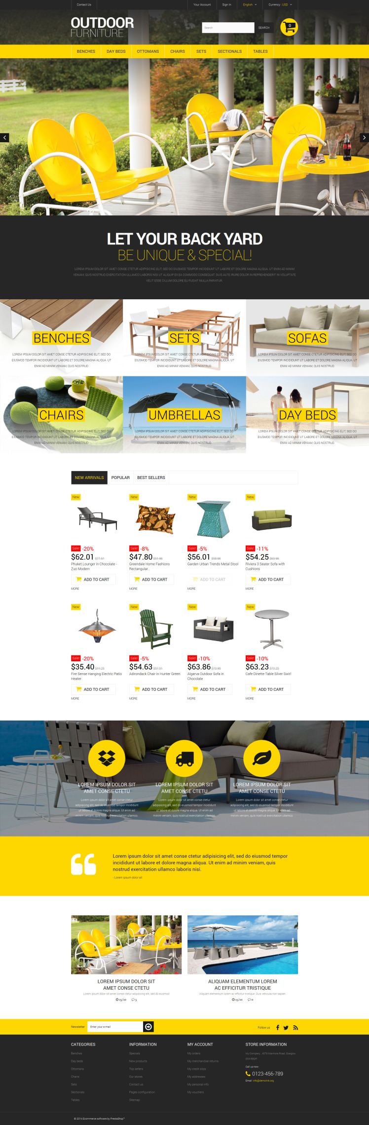 Stylish Outdoor Furniture PrestaShop Themes