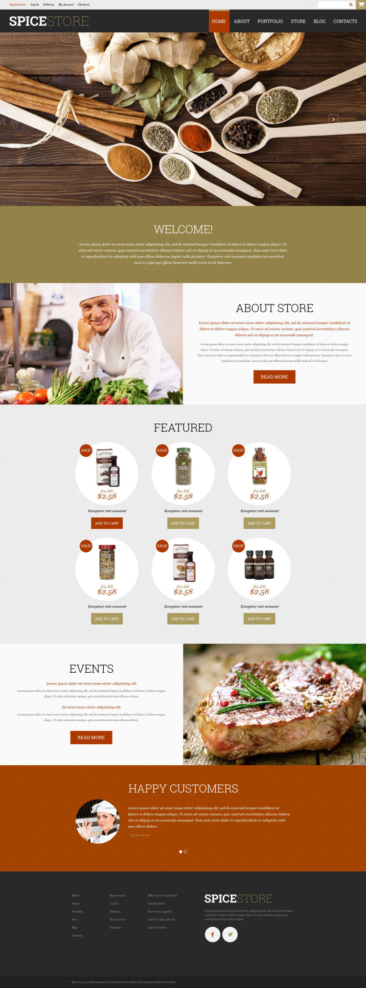 Spice Shop WooCommerce Themes