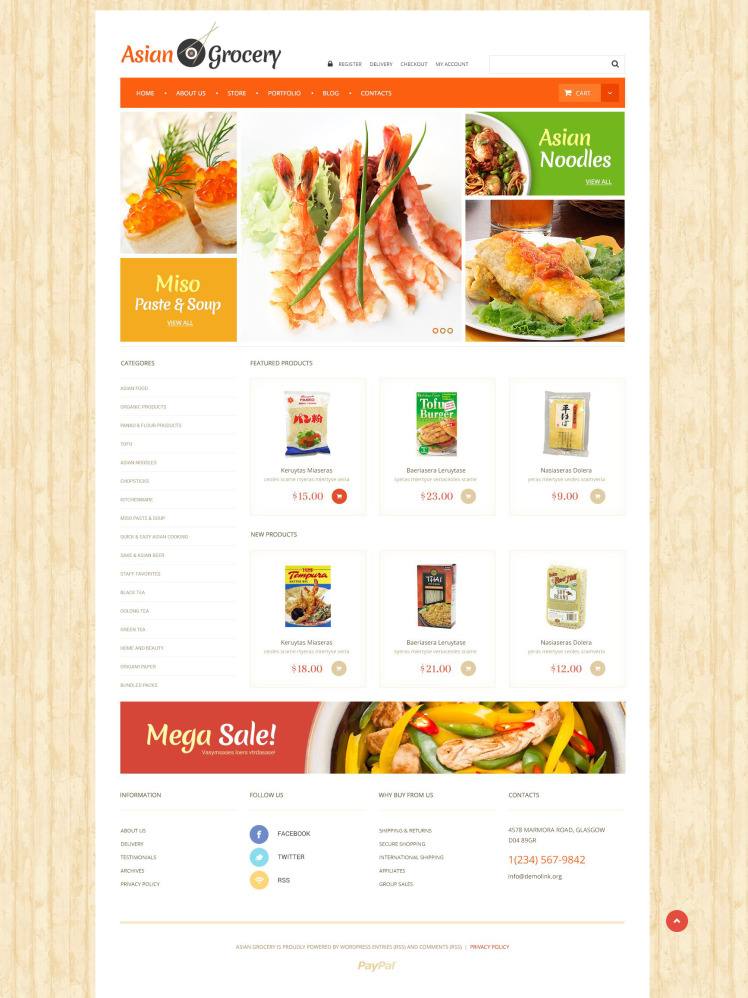 Asian Grocery Store WooCommerce Themes