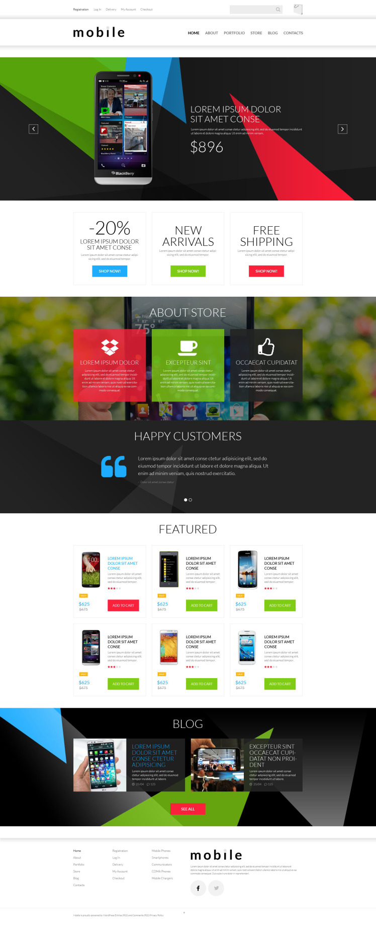 Mobile Gear Store WooCommerce Themes