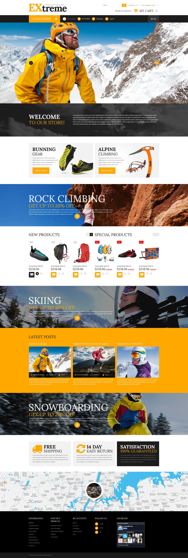 Extreme Sports Gear Magento Themes