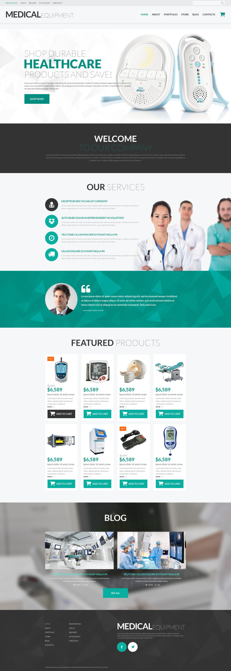 Medical Instruments WooCommerce Themes