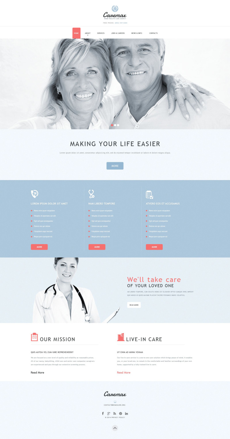 Home Health Care Services Joomla Templates