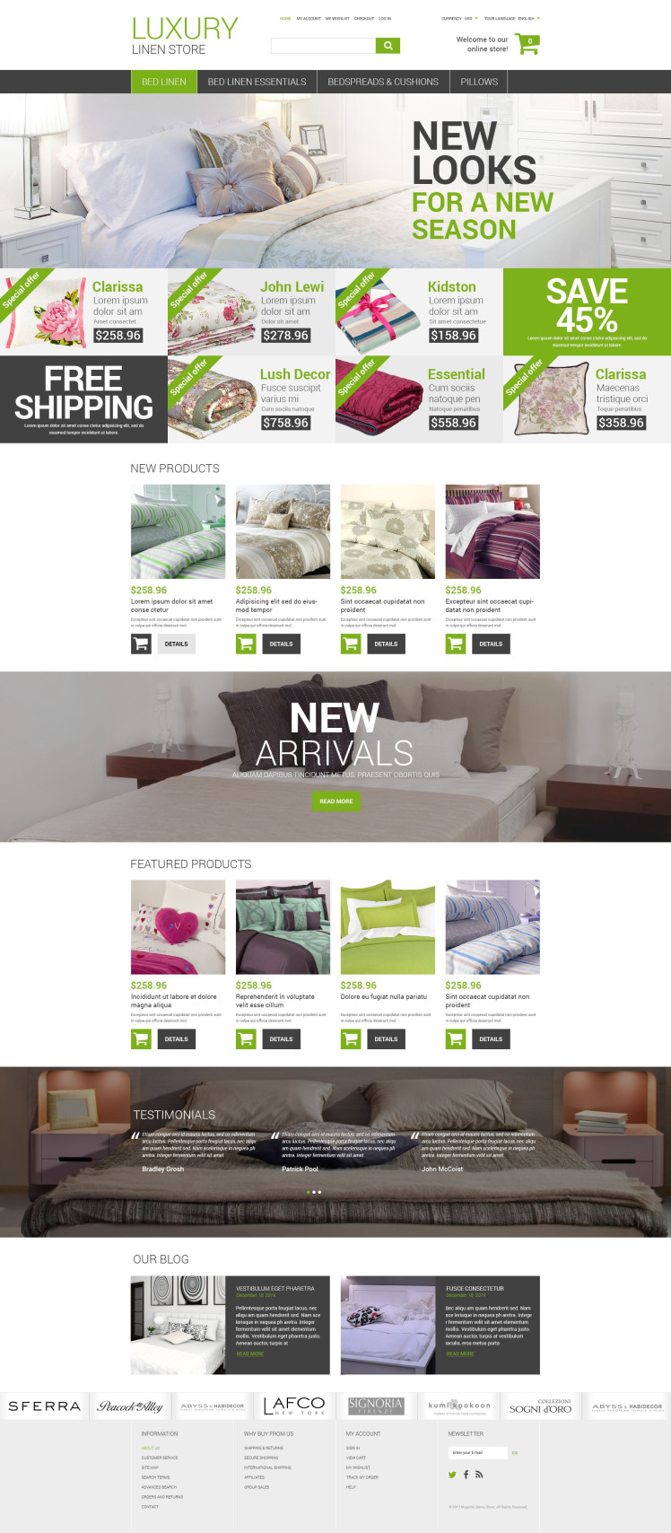 Luxury Linen Store Magento Themes