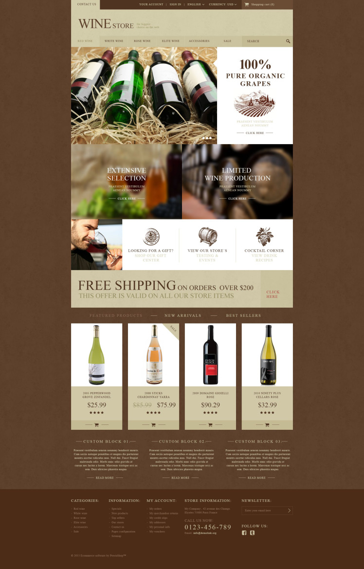 Wine Store PrestaShop Themes