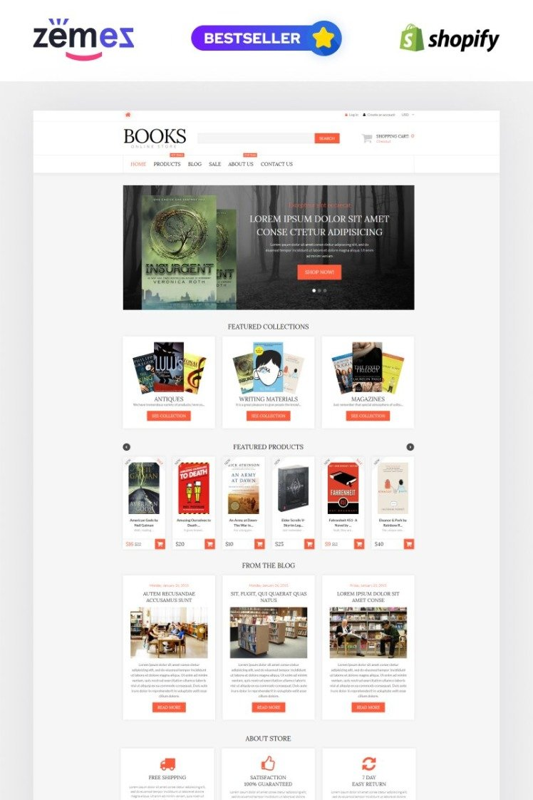 Literature Lovers Spot Shopify Themes
