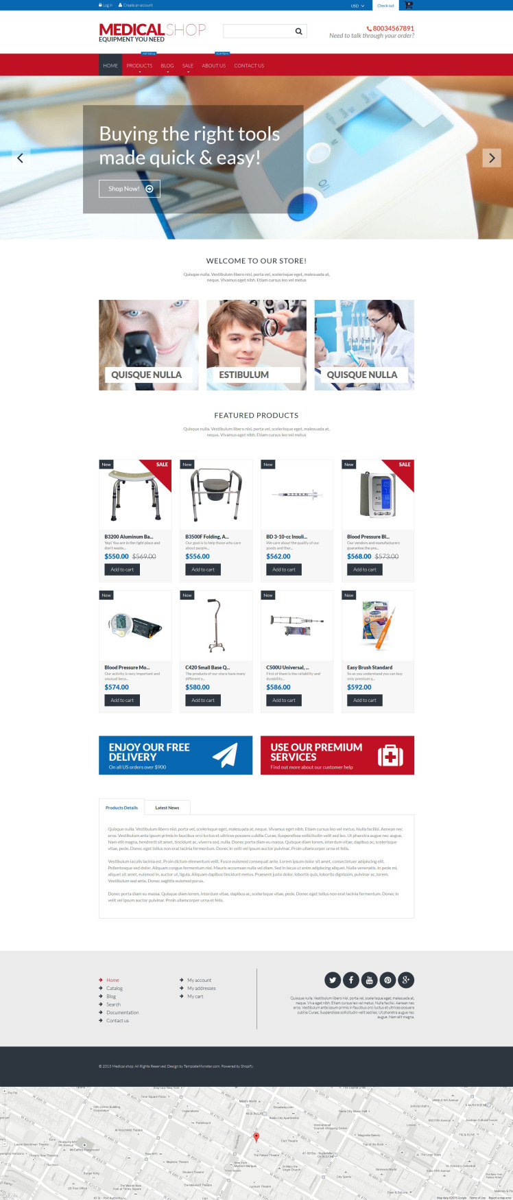 Medical Equipment Shopify Themes