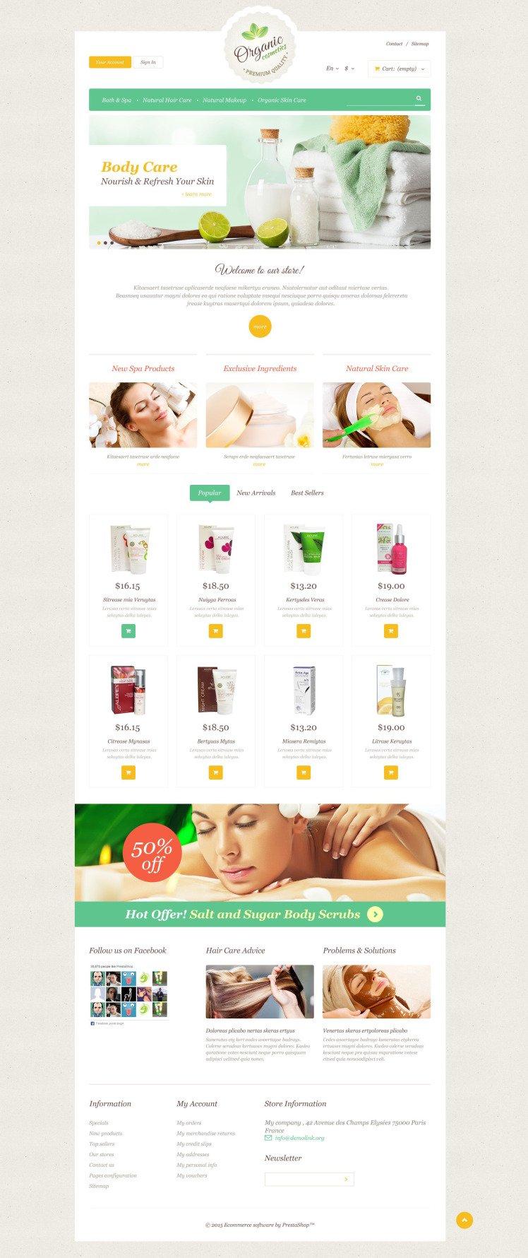 Organic Skin Care PrestaShop Themes