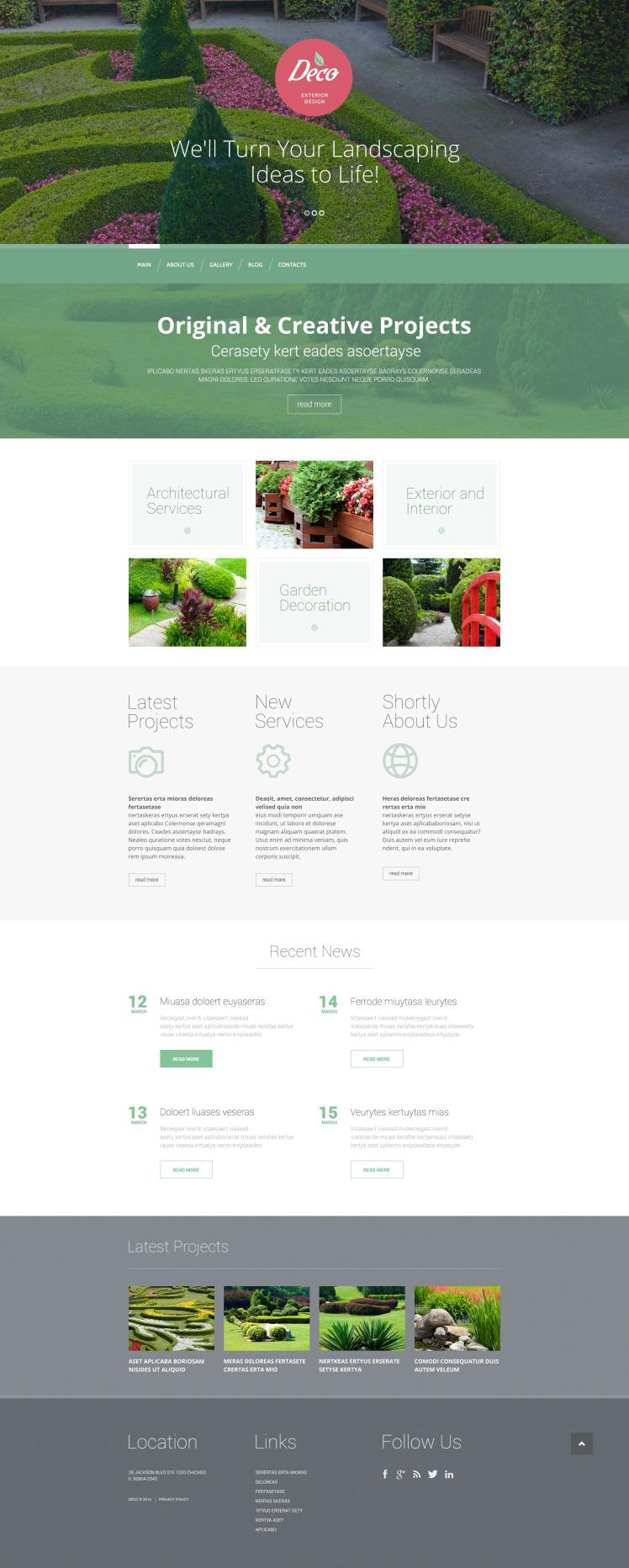 Exterior Design Mastery WordPress Themes