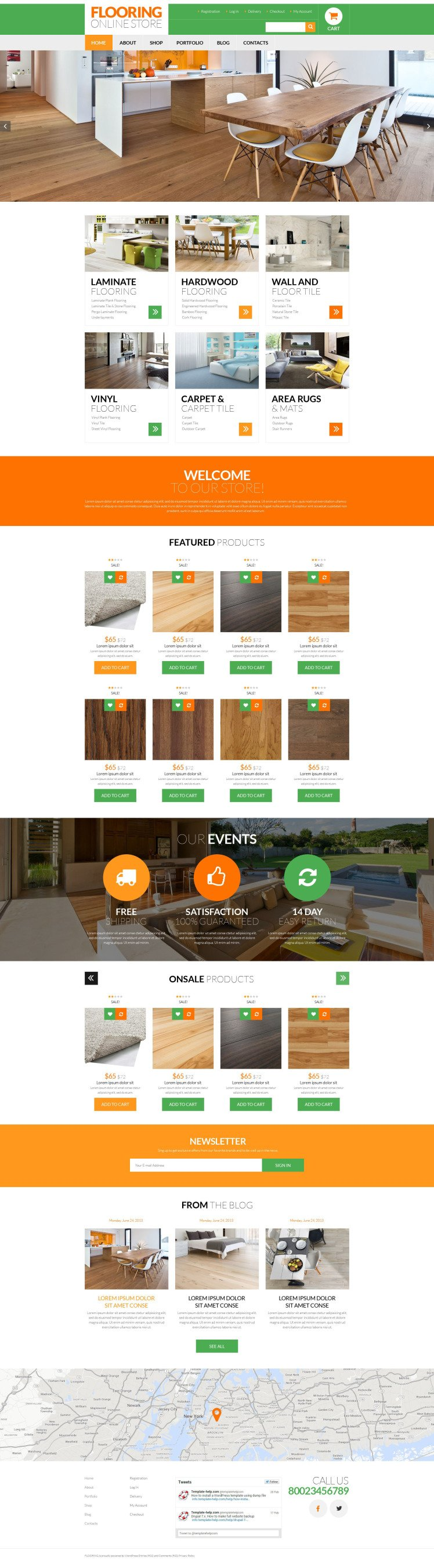 Flooring Services WooCommerce Themes