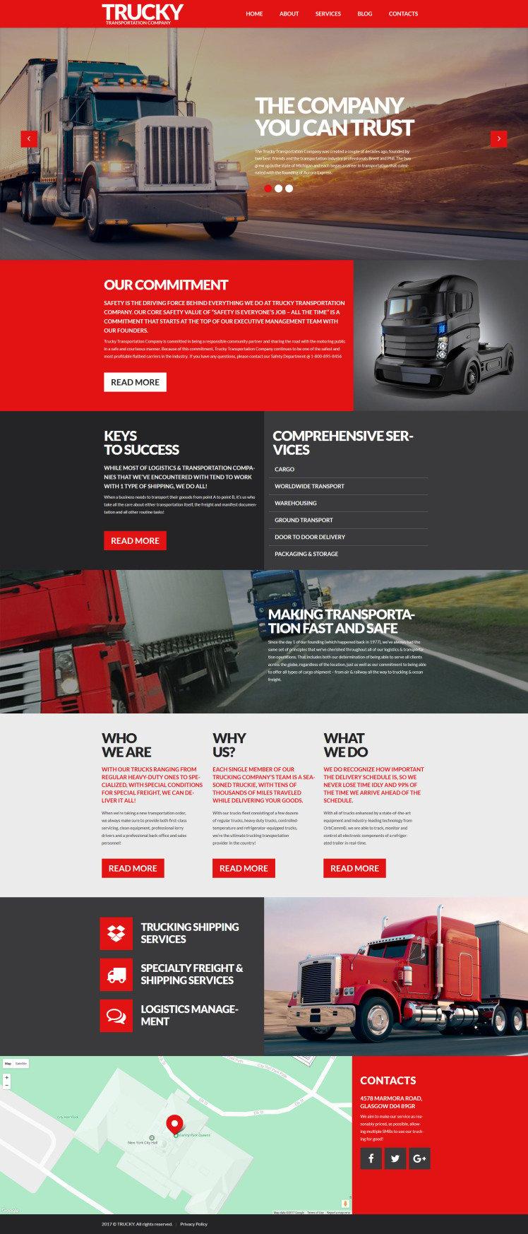 Trucky Transportation Logistics Responsive WordPress Themes