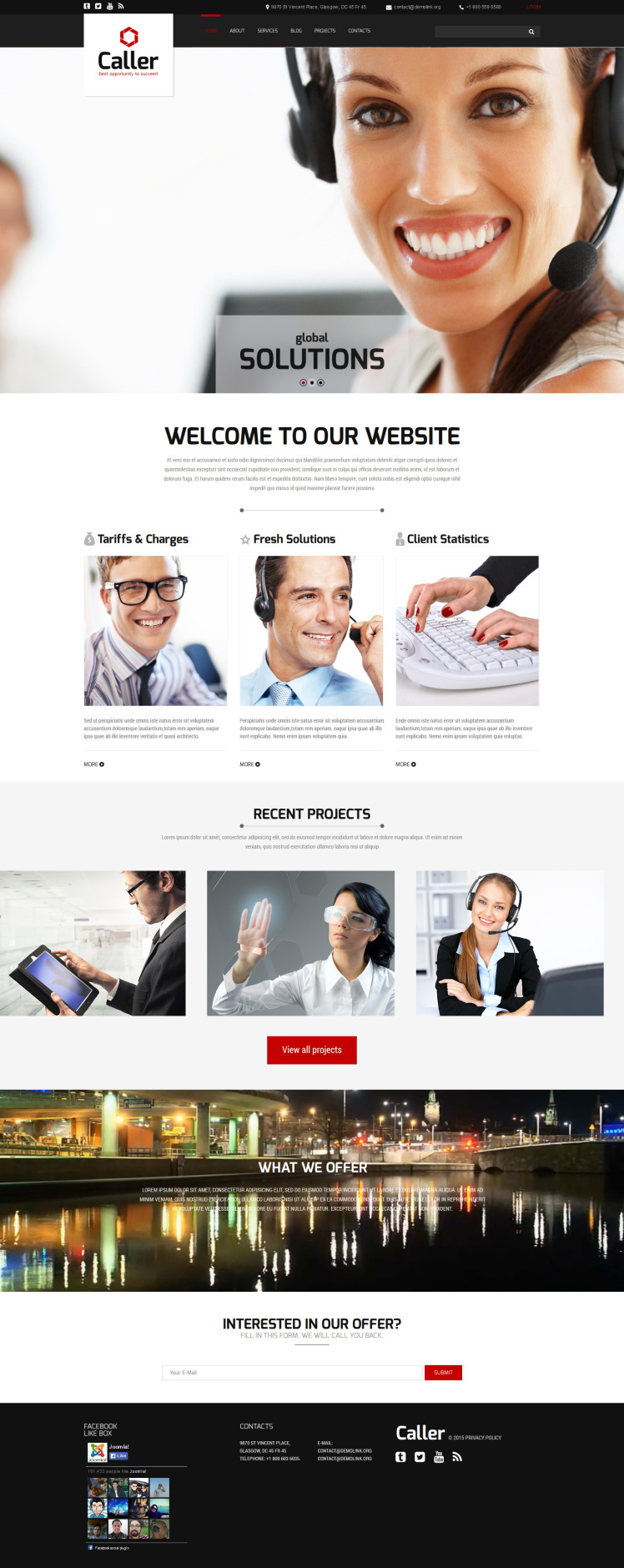 Call Center Joomla Templates