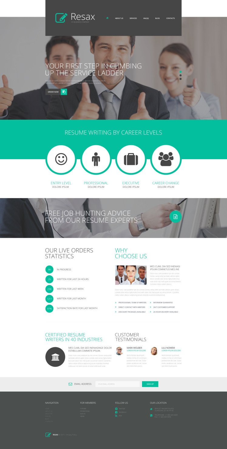 CV Business WordPress Theme