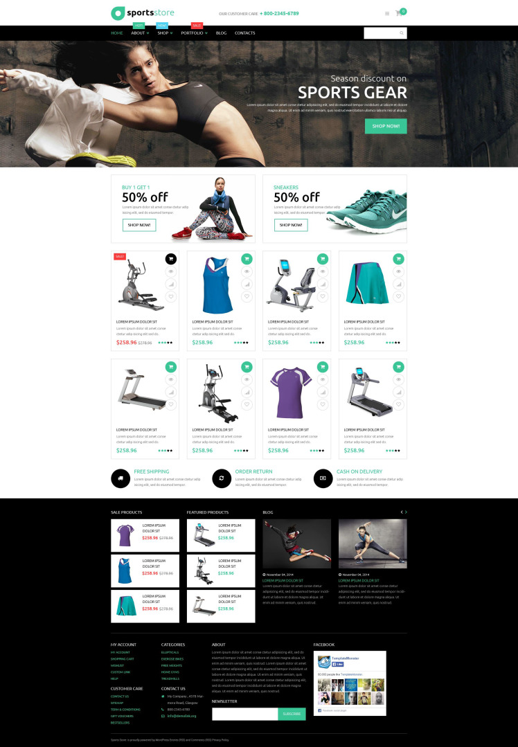 Fitness Store WooCommerce Themes