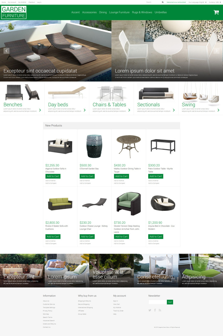 Garden Furniture Sheds Magento Themes