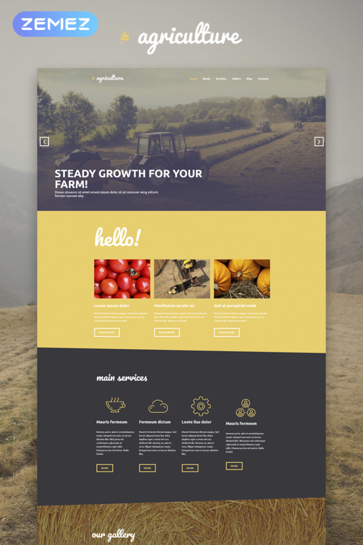 Agriculture Crop Farming Elementor WordPress Themes