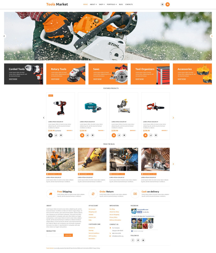 Equipment Market WooCommerce Themes