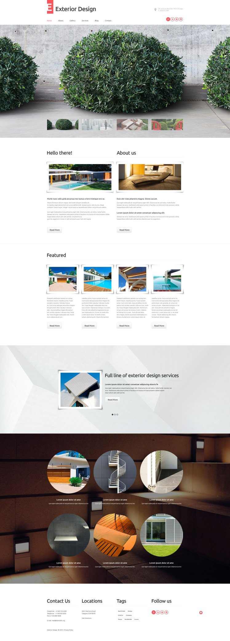 Exterior Design WordPress Themes