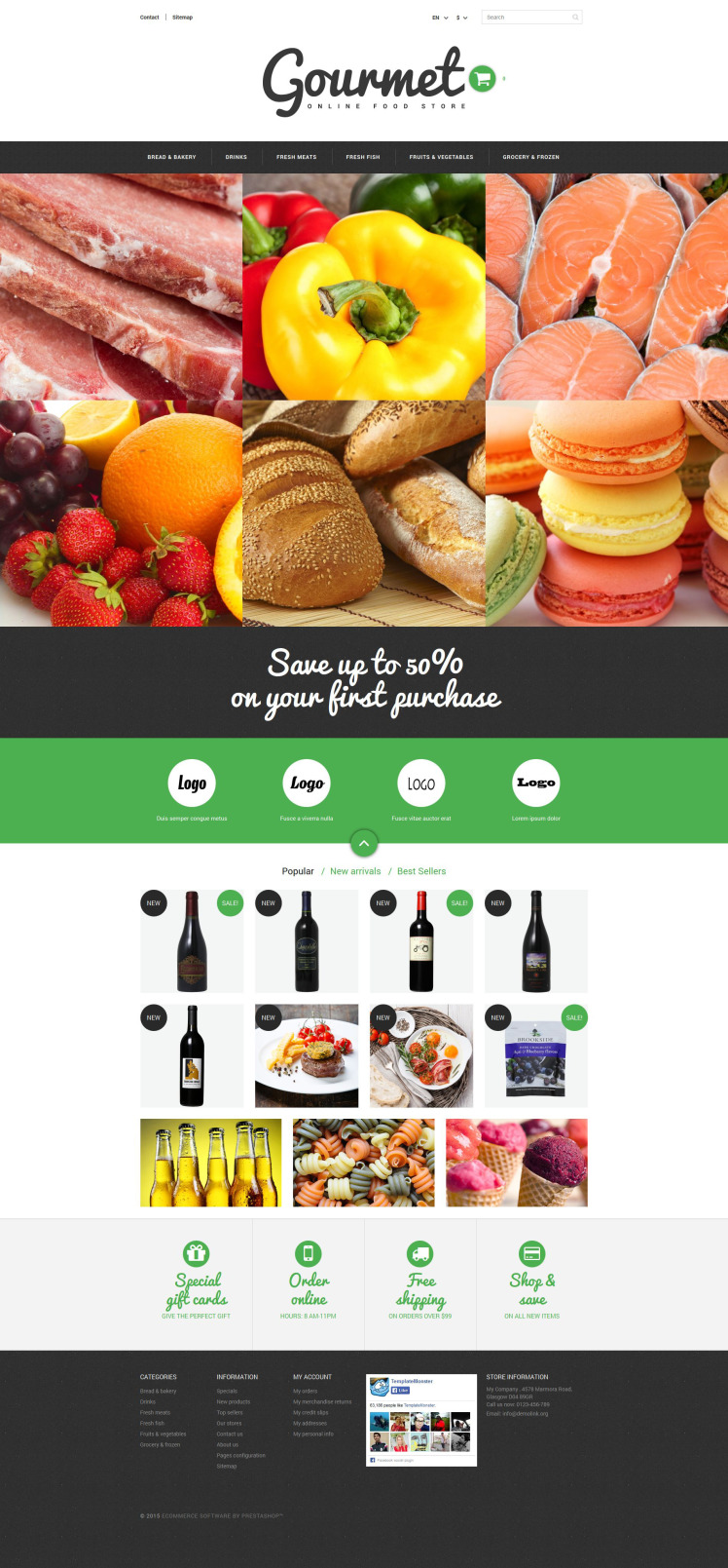 Food Shop PrestaShop Themes
