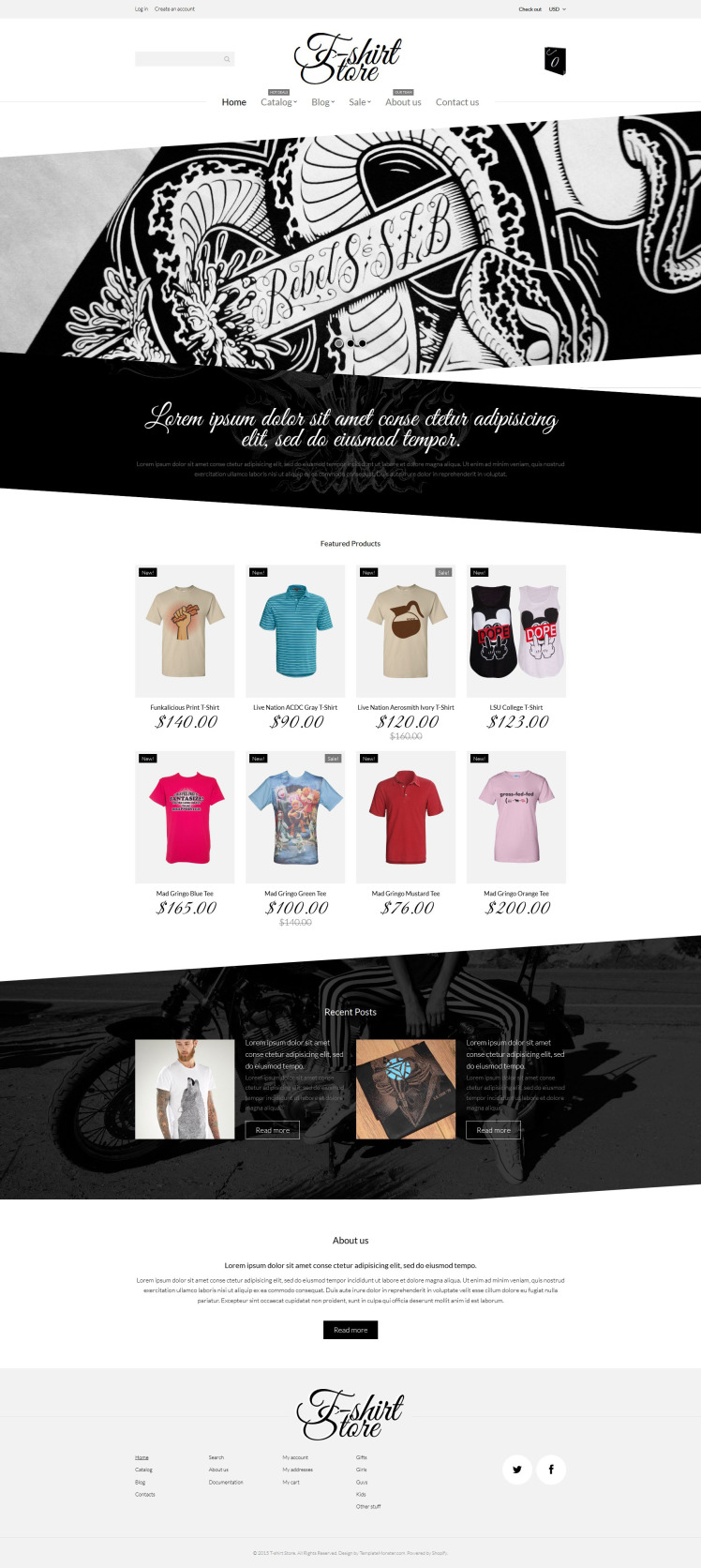 TShirt Designs Shopify Themes