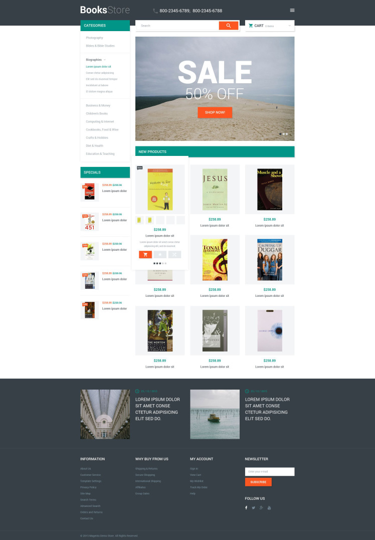Books Store Magento Themes