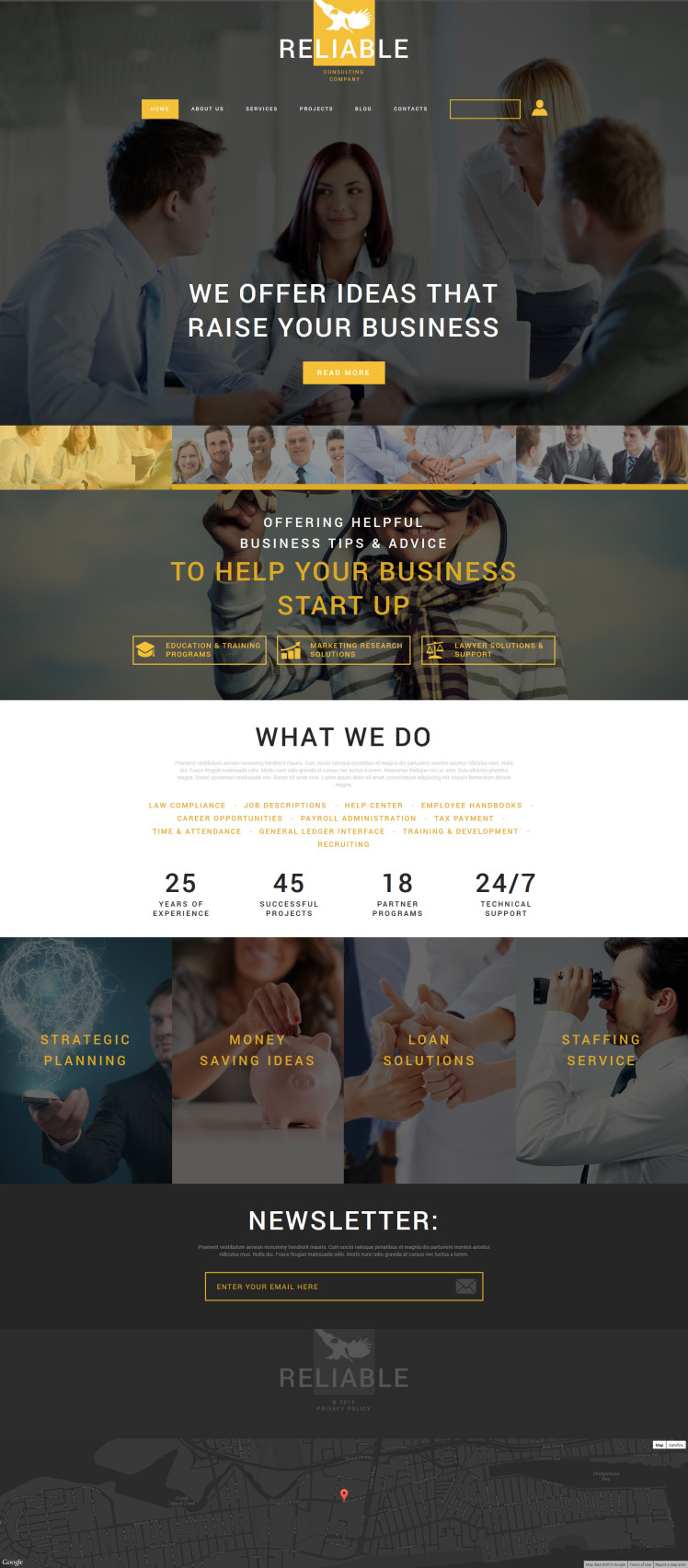 Business Consulting Company Joomla Templates