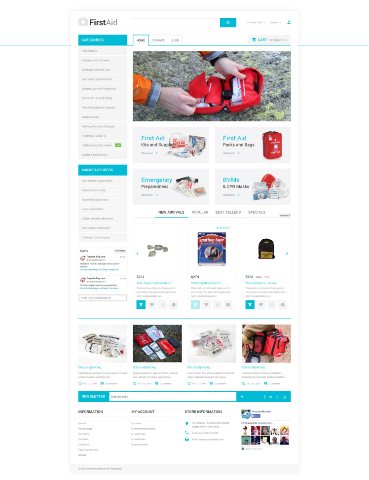 Healthcare Essentials Store PrestaShop Themes