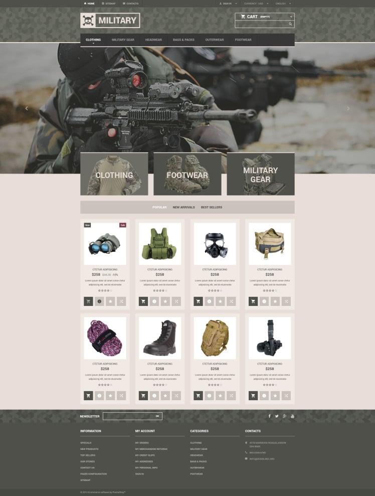 Military Gear Store PrestaShop Themes